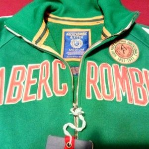 NEW Abercrombie Vtg Spell Out Athletic Jacket